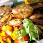 Tortilla Salad with Blackened or Grilled Shrimp